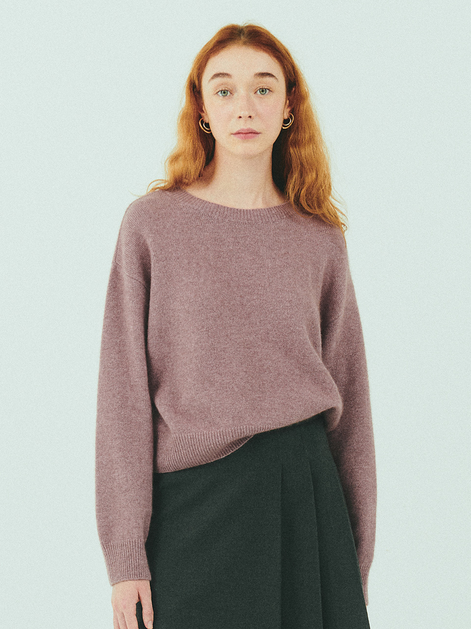 MERINO WOOL CROP KNIT_PINK