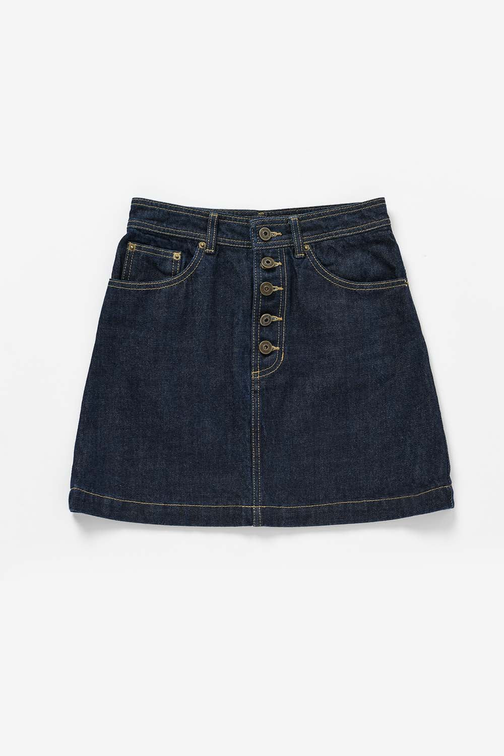 Button Point Denim Skirt BS9FSK403DM