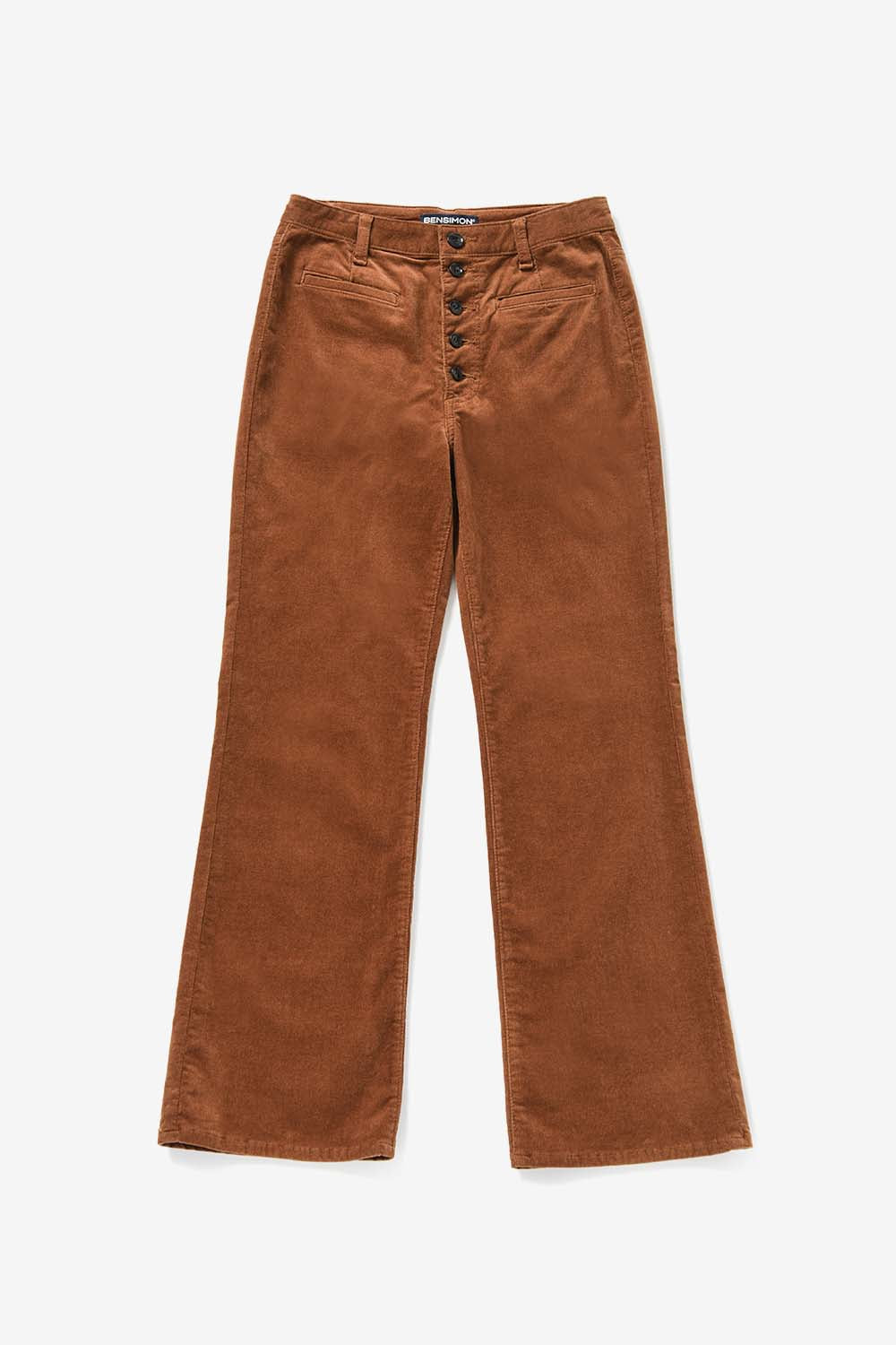 Button Point Corduroy Pants_Brown BS9FPT405BR