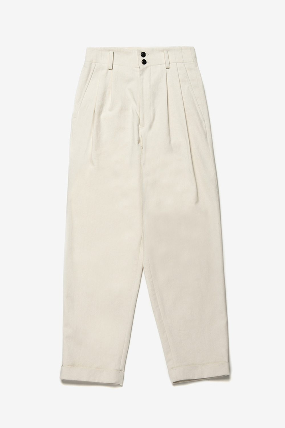 [벤시몽 X 비아플레인] Serge Cotton Pants_Ivory BS0SPT405IV