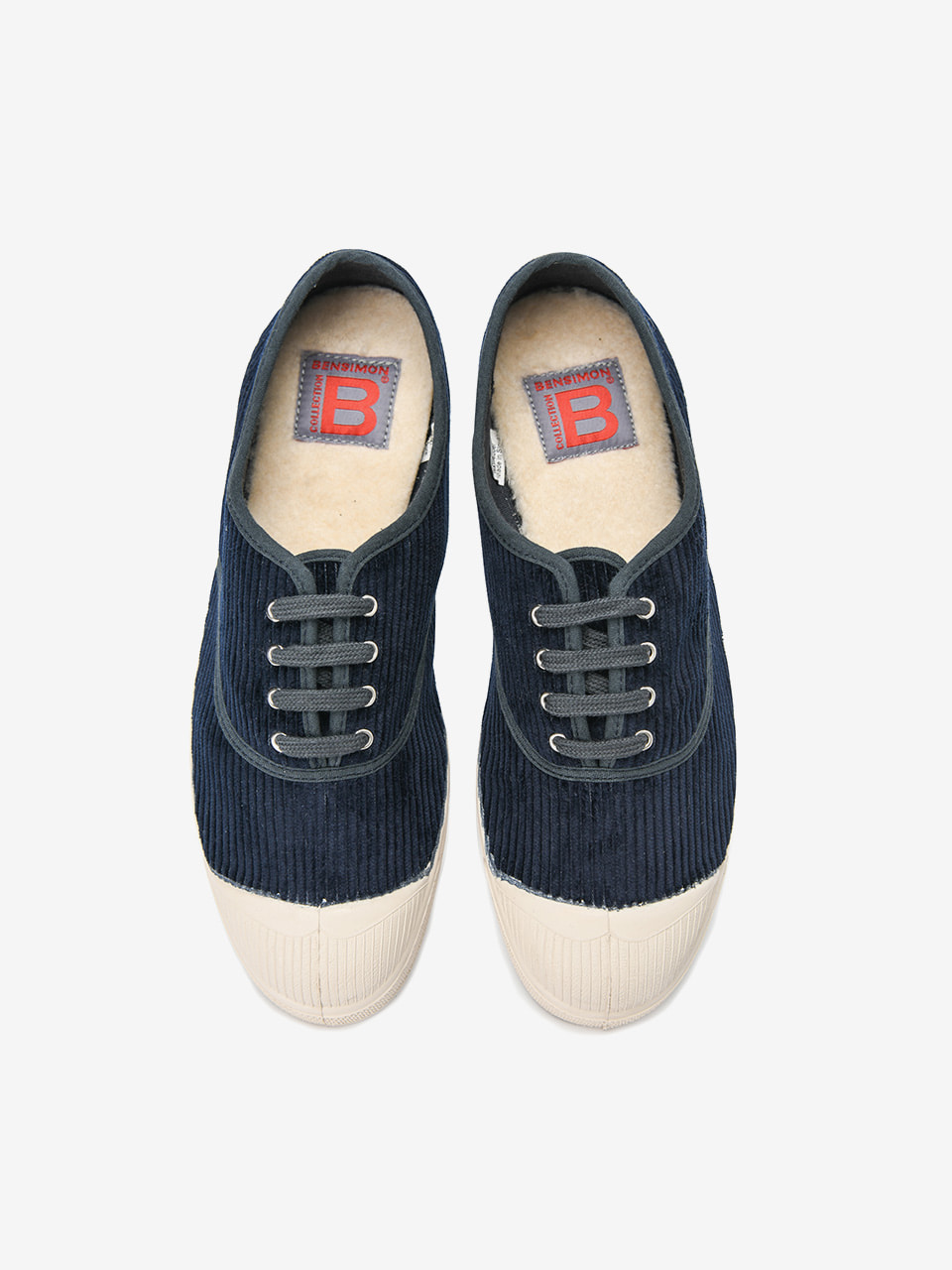 [Woman Tennis Lacet Corduroy Limited] Navy