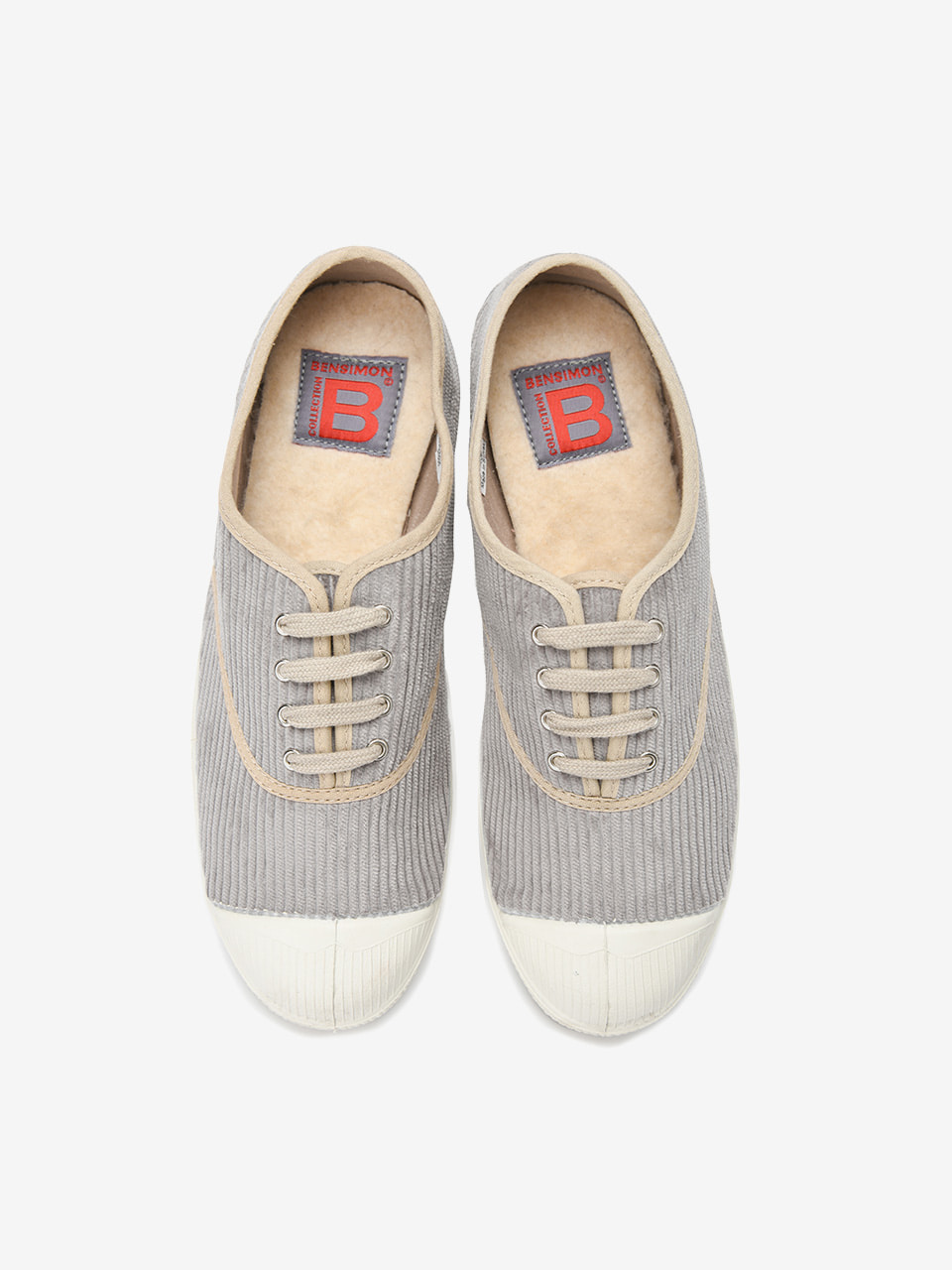 [Woman Tennis Lacet Corduroy Limited] Beige
