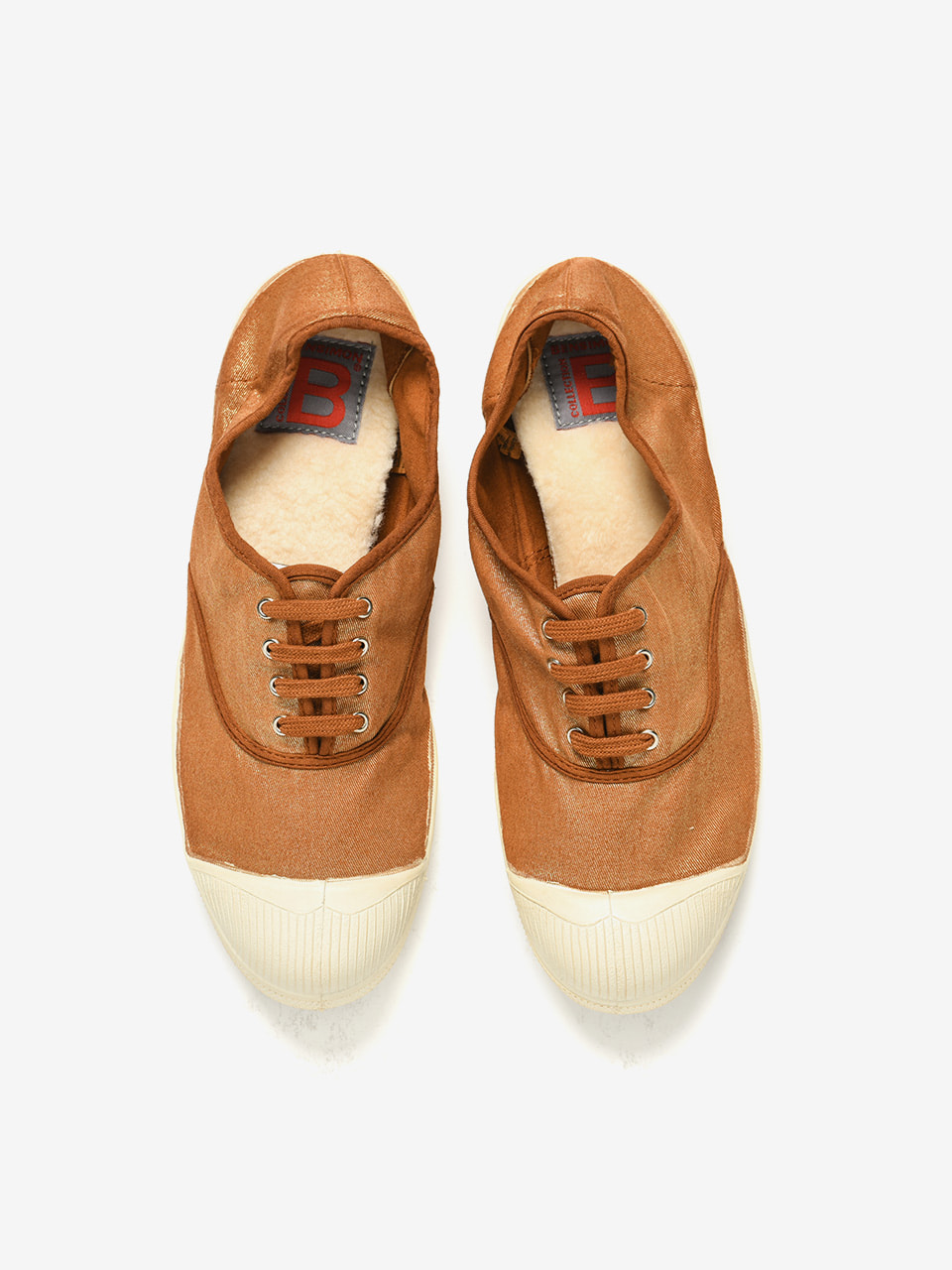 [Woman Tennis Lacet Lurex Limited] Caramel