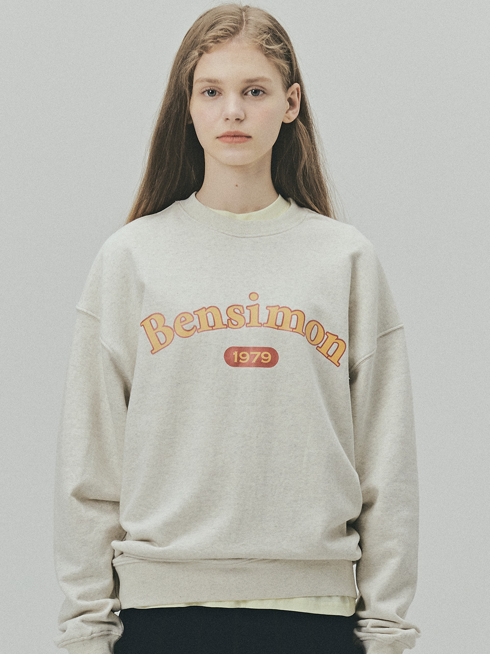 BENSIMON 1979 HERITAGE SWEAT SHIRT - OATMEAL