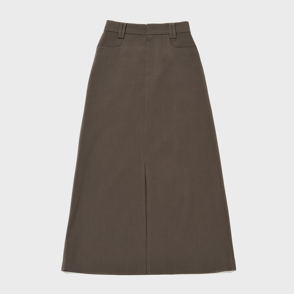 BENSIMON LONG SKIRT - DARK BROWN