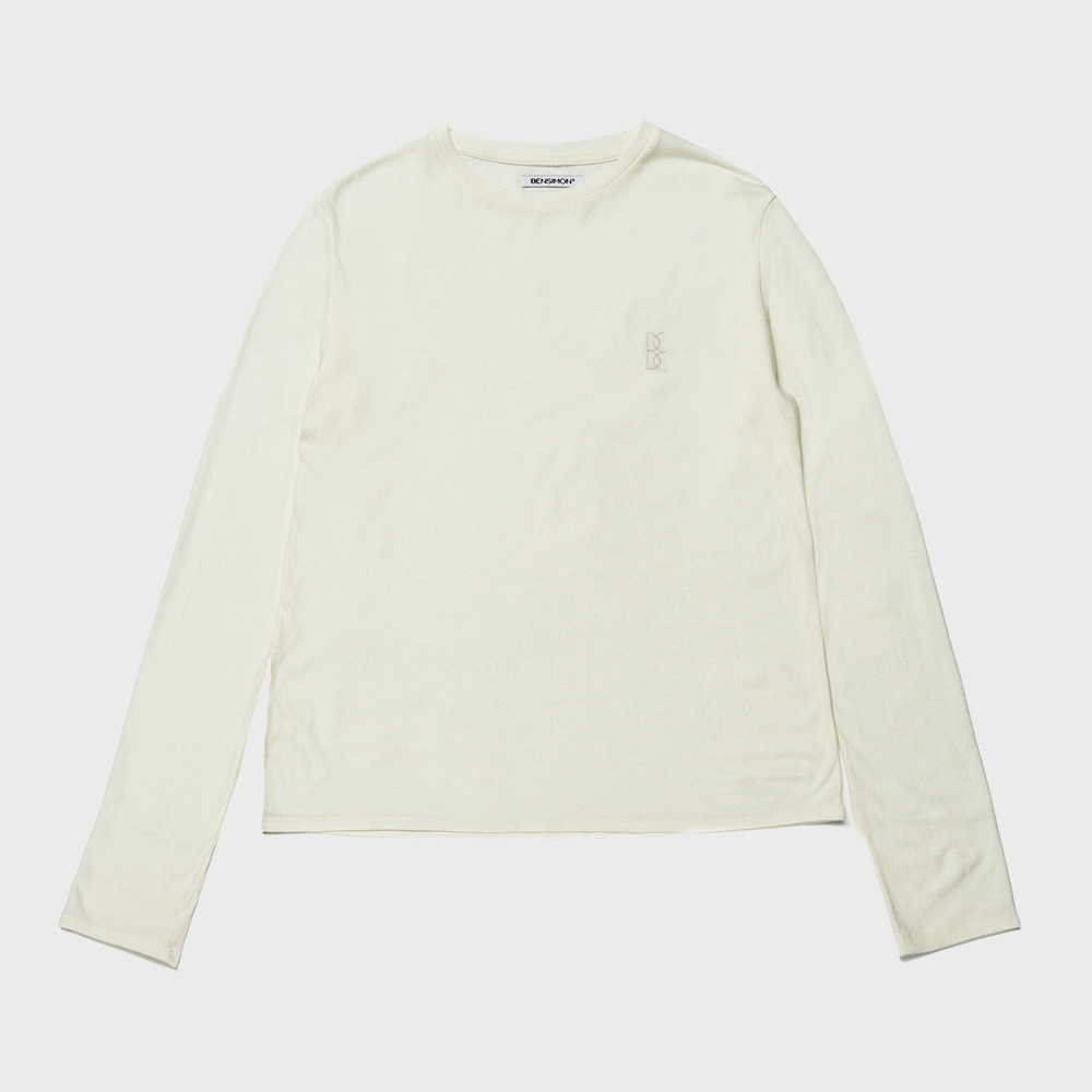 BENSIMON ANGORA CREW NECK KNIT - WHITE