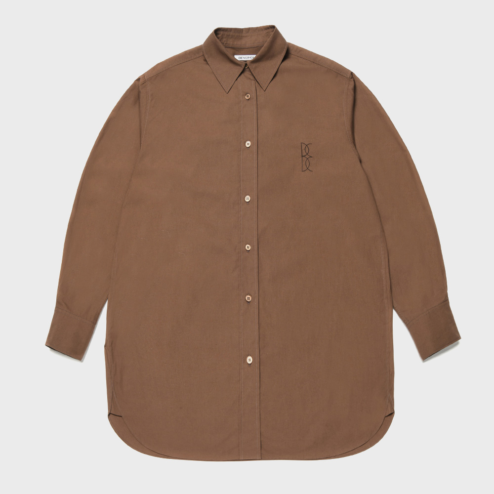 BENSIMON LOGO SHIRTS - BROWN