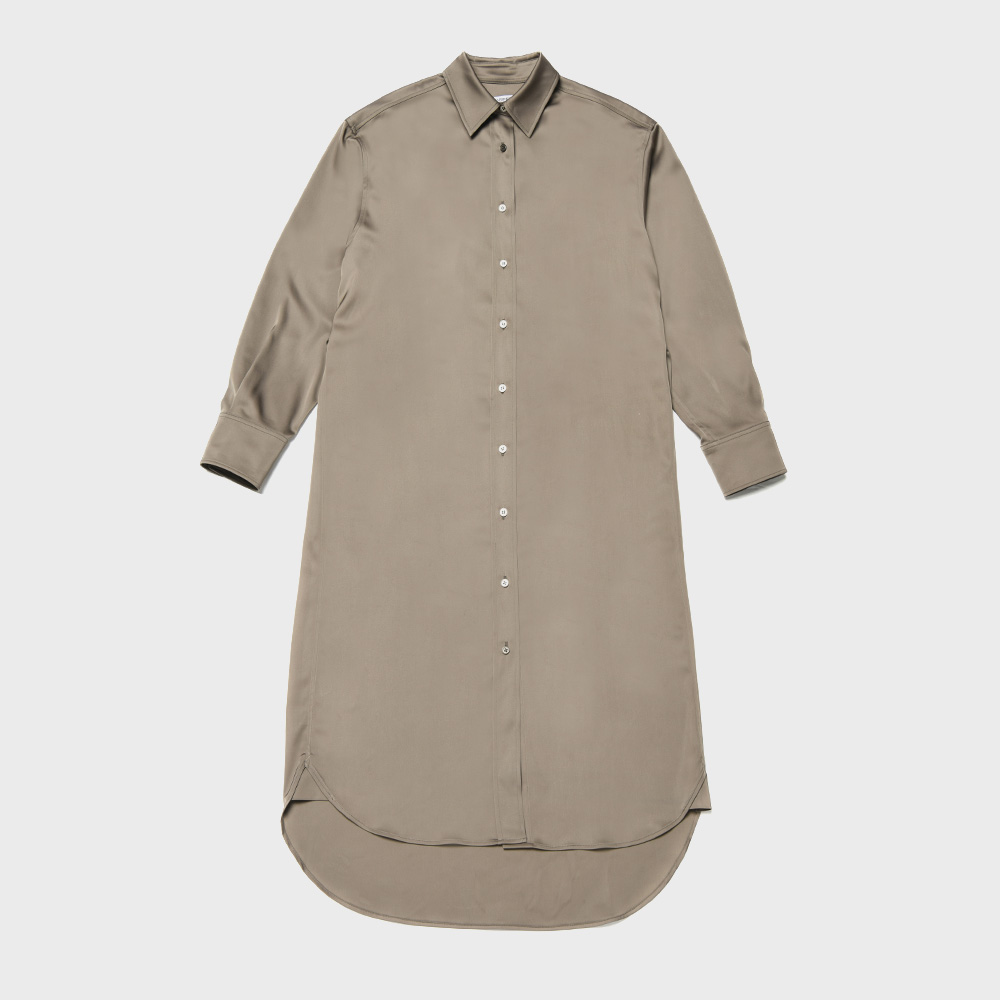 BENSIMON SHIRT DRESS - BROWN