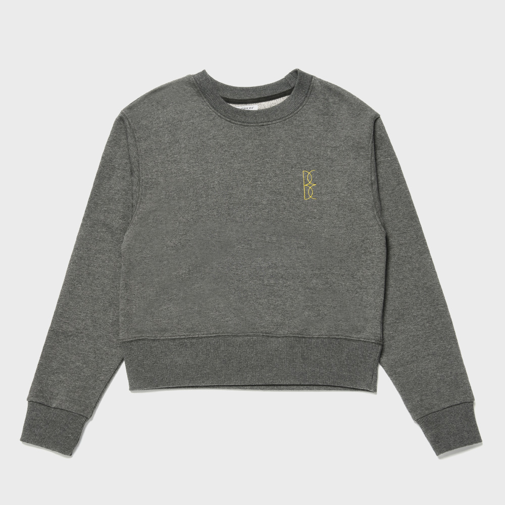 BENSIMON CROP SWEAT SHIRT - DARK GREY