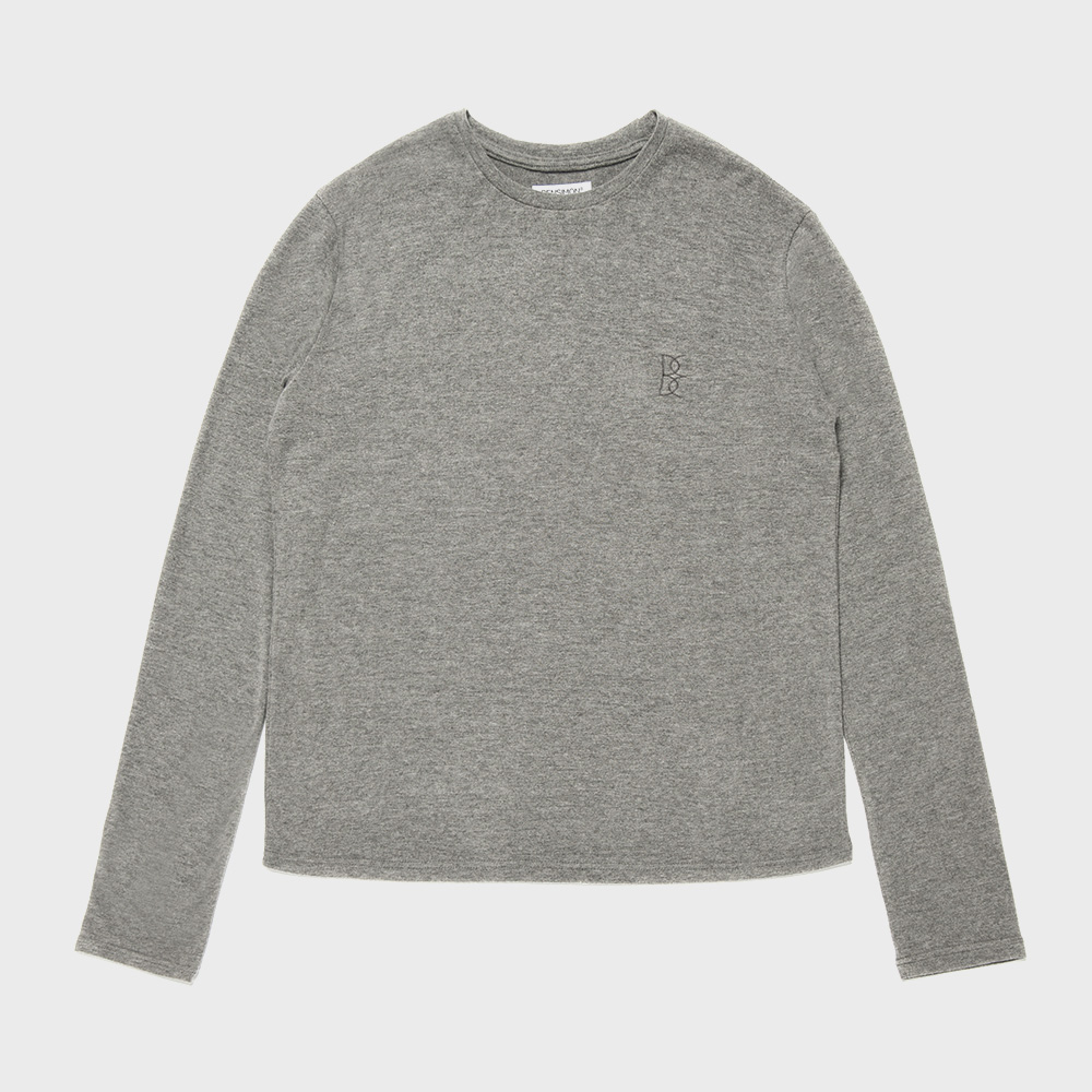 BENSIMON ANGORA CREW NECK KNIT - DARK GREY