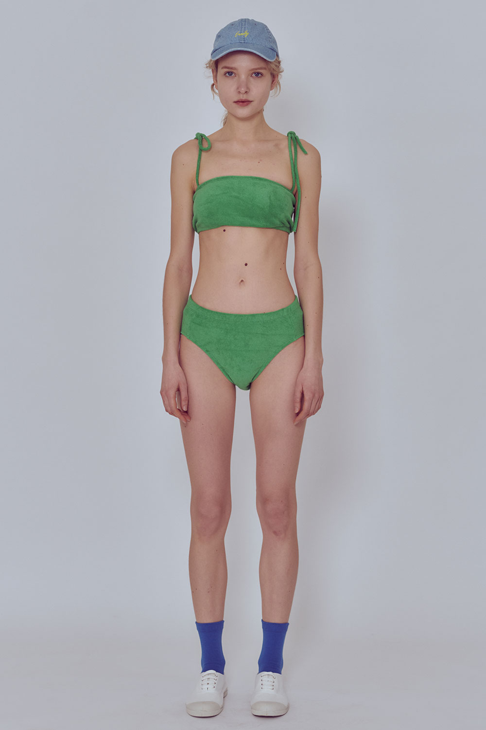 [벤시몽 X 비아플레인] Towel Sweat Swim Wear_Green BS0SSU217GN00F