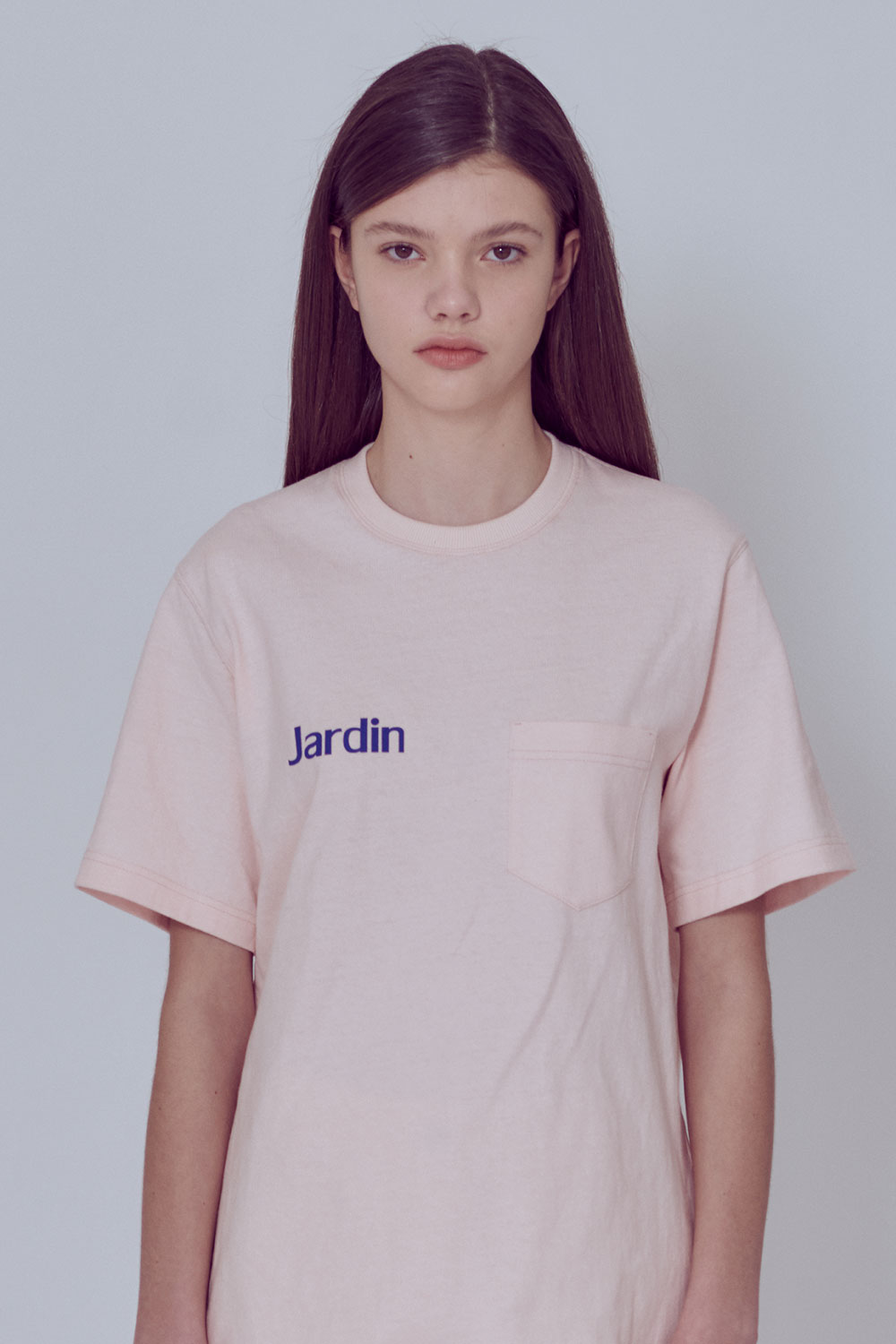 [벤시몽 X 비아플레인] Jardin Round T-Shirts_Light Pink BS0STS215LP00F