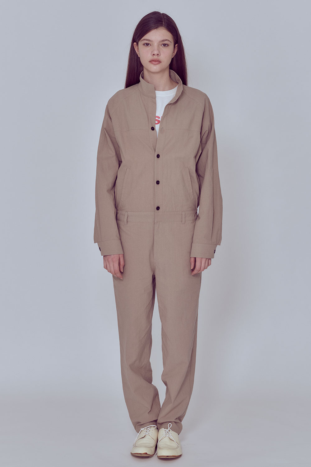 [벤시몽 X 비아플레인] Jump Suit_Light Beige BS0SJS212BE00F