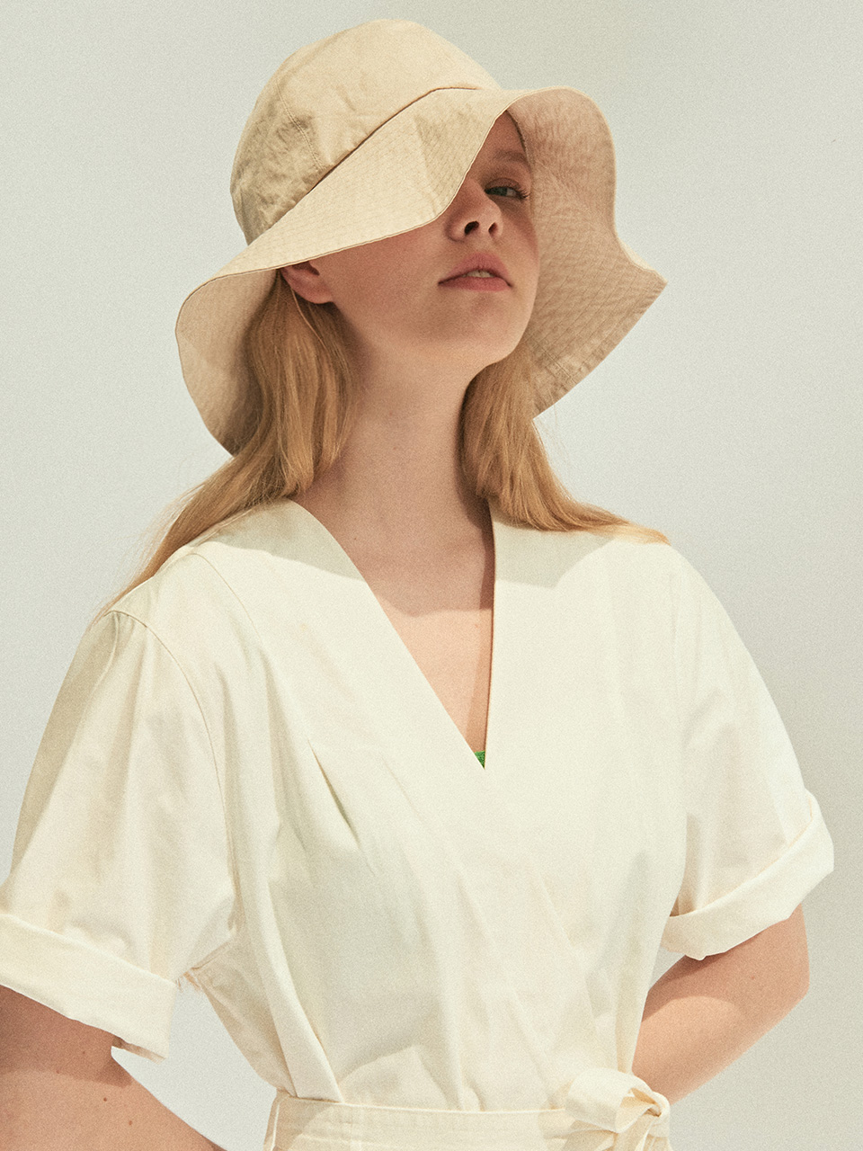 Serge Woman Bucket Hat_Ivory