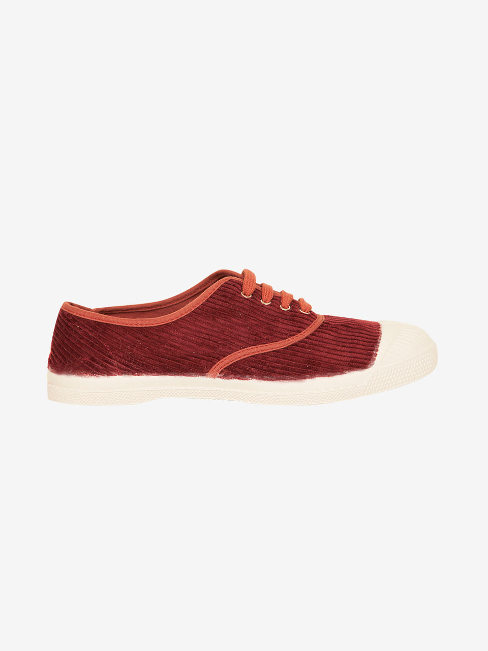 [Woman Tennis Lacet Corduroy Limited] Burgundy