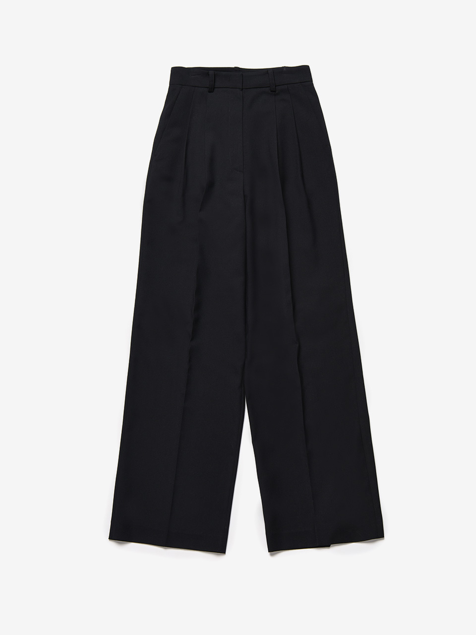 BENSIMON 3 TUCK SET UP WIDE PANTS - NAVY