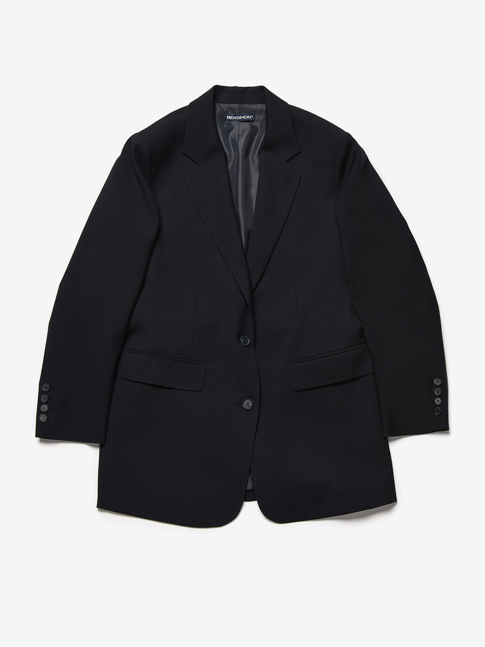 BENSIMON TAILORED SET UP JACKET - NAVY