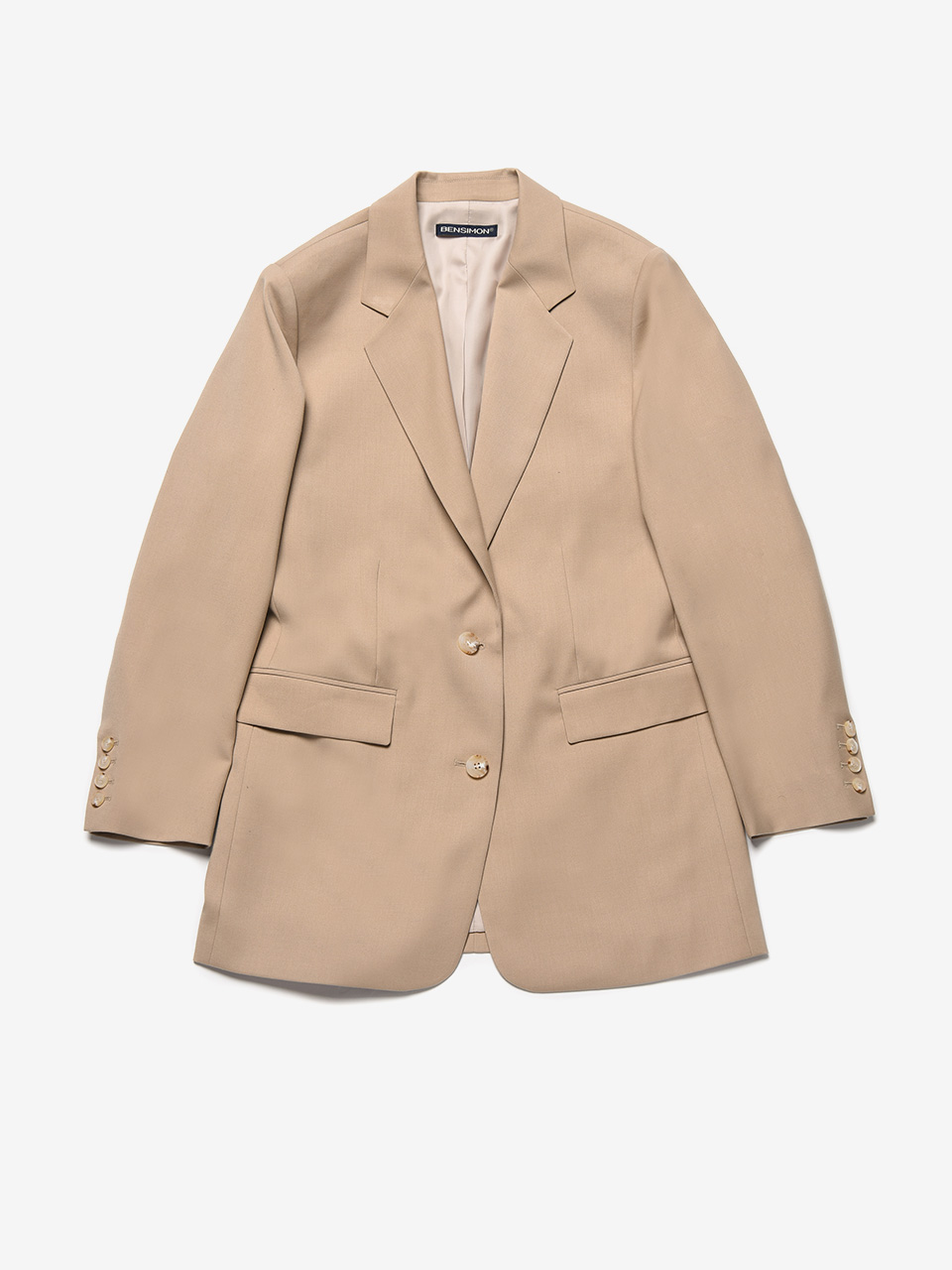 BENSIMON TAILORED SET UP JACKET - BEIGE