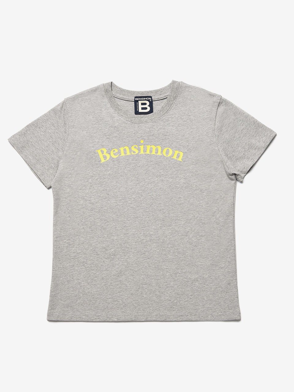 BENSIMON SMALL LETTER LOGO HALF SLEEVE - GREY